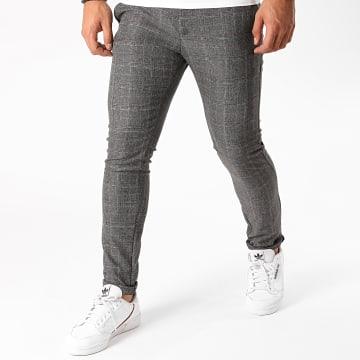 Armita - Pantalon Carreaux PAK-421 Gris Anthracite