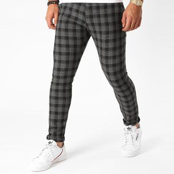 Armita - Pantalon Carreaux PAK-420 Noir Gris