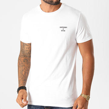 Superdry - Tee Shirt Training Core Sport MS310399A Blanc