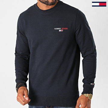 Tommy Jeans - Sweat Crewneck Tommy Chest Graphic 8729 Bleu Marine