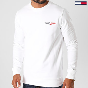Tommy Jeans - Sweat Crewneck Tommy Chest Graphic 8729 Blanc