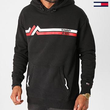 Tommy Jeans - Sweat Capuche Stripe Mountain 9505 Noir