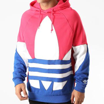 Adidas Originals - Sweat Capuche GE6226 Rose Fushia Bleu Blanc