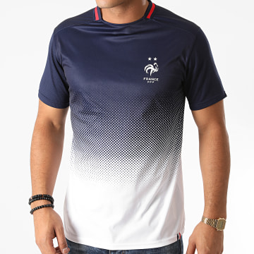 FFF - Tee Shirt F20015C Bleu Marine Blanc