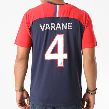 FFF - Tee Shirt Varane F20011 Bleu Marine