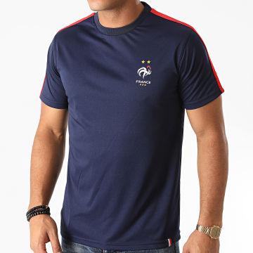 FFF - Tee Shirt A Bandes F20014C Bleu Marine