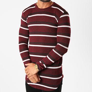 Frilivin - Tee Shirt Manches Longues Oversize 5519 Bordeaux