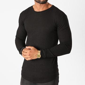 Frilivin - Tee Shirt Manches Longues Oversize 5519 Noir