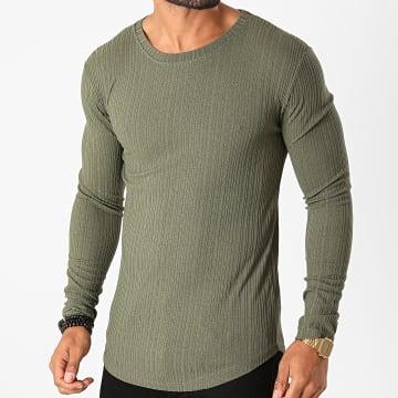 Frilivin - Tee Shirt Manches Longues Oversize 5519 Vert Kaki