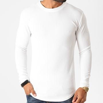 Frilivin - Tee Shirt Manches Longues Oversize 5522 Blanc