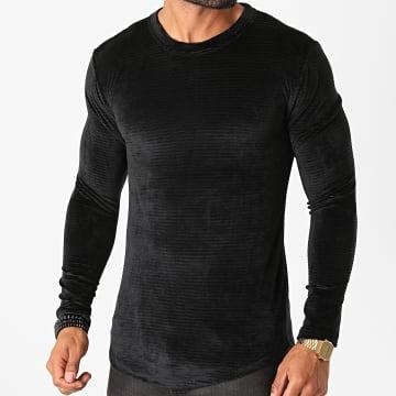 Frilivin - Tee Shirt Manches Longues Oversize 5520 Noir