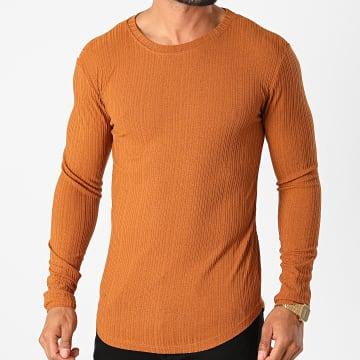 Frilivin - Tee Shirt Manches Longues Oversize 5519 Marron