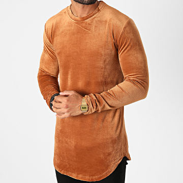 Frilivin - Tee Shirt Manches Longues Oversize 5520 Camel