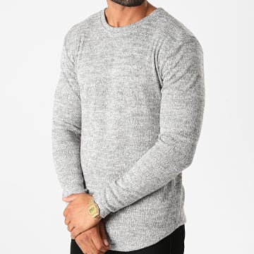 Frilivin - Tee Shirt Manches Longues Oversize 5521 Gris Chiné