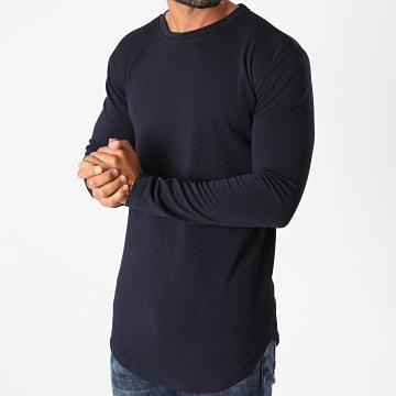 Frilivin - Tee Shirt Manches Longues Oversize 5522 Bleu Marine