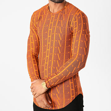 Frilivin - Tee Shirt Manches Longues Oversize U2139 Orange