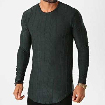 Frilivin - Tee Shirt Manches Longues Oversize U2139 Vert