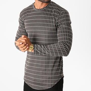 Frilivin - Tee Shirt Manches Longues Oversize 15033 Noir