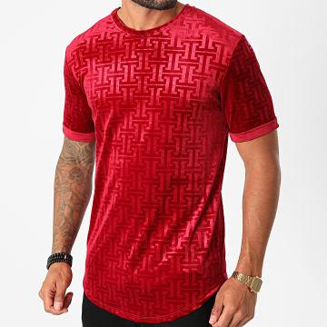 Frilivin - Tee Shirt Oversize Velours 13900 Rouge