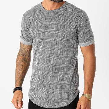 Frilivin - Tee Shirt Oversize A Carreaux 13986 Gris