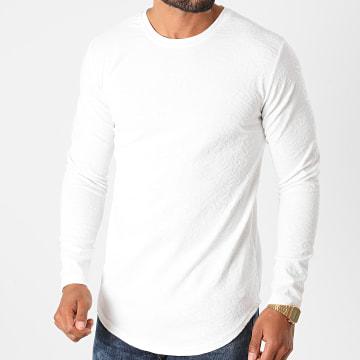 Frilivin - Tee Shirt Manches Longues Oversize 15026 Blanc