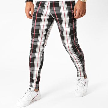 Frilivin - Pantalon A Carreaux 1766 Noir Blanc