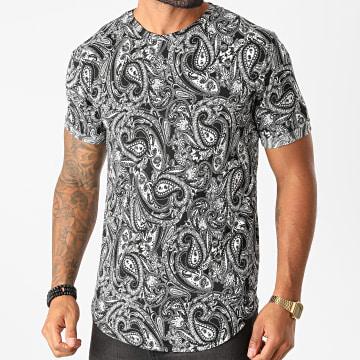 Frilivin - Tee Shirt Oversize 13975 Noir Blanc Bandana