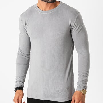 Frilivin - Tee Shirt Manches Longues 5529 Gris