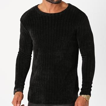 Frilivin - Tee Shirt Manches Longues Oversize U2056 Noir