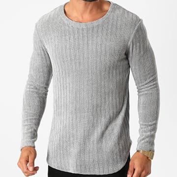 Frilivin - Tee Shirt Manches Longues Oversize U2056 Gris