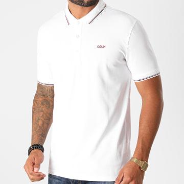HUGO - Polo Manches Courtes Dinoso 50437298 Blanc