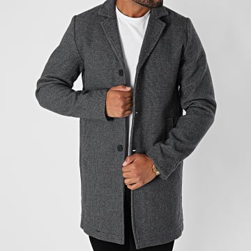 Indicode Jeans - Manteau Bester Gris Anthracite