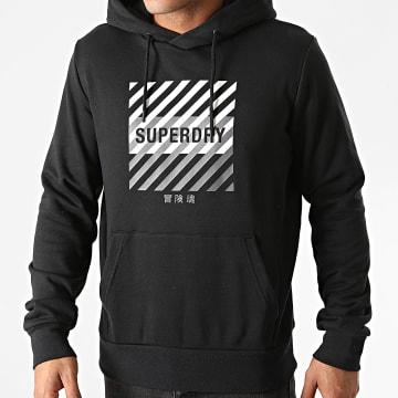 Superdry - Sweat Capuche Training Core Sport MS310169A Noir