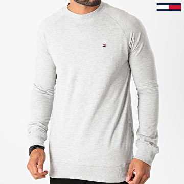 Tommy Hilfiger - Tee Shirt Manches Longues Track 1612 Gris Chiné