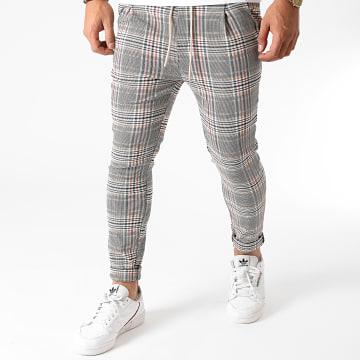 Uniplay - Pantalon A Carreaux T3558 Beige