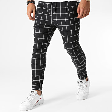 Uniplay - Pantalon A Carreaux T3556 Noir