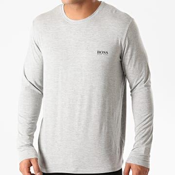 BOSS - Tee Shirt Manches Longues Comfort 50414837 Gris Chiné