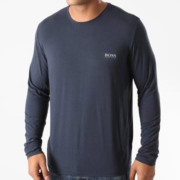 BOSS - Tee Shirt Manches Longues Comfort 50414837 Bleu Marine