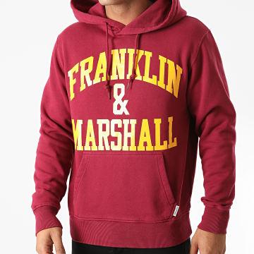Franklin And Marshall - Sweat Capuche JM5010-2002P01 Bordeaux