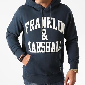 Franklin And Marshall - Sweat Capuche JM5010-2002P01 Bleu Marine