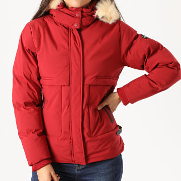 Girls Only - Parka Femme Fourrure Paje Rouge Brique