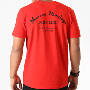 Heuss L'Enfoiré - Tee Shirt Maison Moulaga Rouge Noir