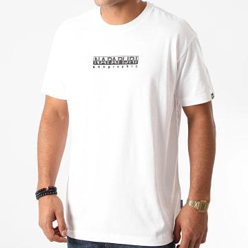 Napapijri - Tee Shirt Box Blanc