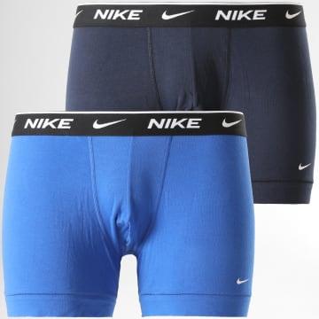Nike - Lot De 2 Boxers Everyday Cotton Stretch KE1085 Bleu Marine Bleu Indigo