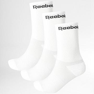 Reebok - Lot De 3 Paires De Chaussettes GH0416 Blanc