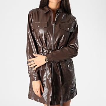 Sixth June - Robe Femme Manches Longues W32456KDR Marron