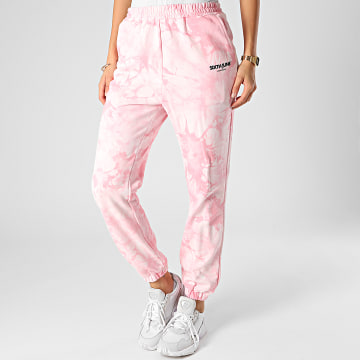 Sixth June - Pantalon Jogging Femme Tie And Dye W32442KPA Rose