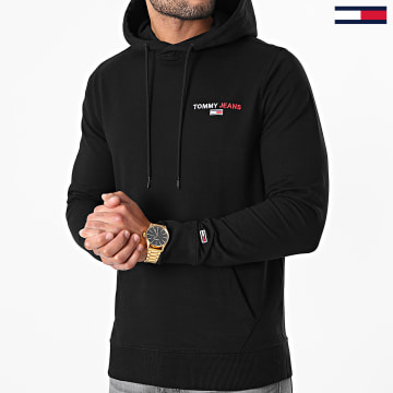 Tommy Jeans - Sweat Capuche Tommy Chest Graphic 8730 Noir
