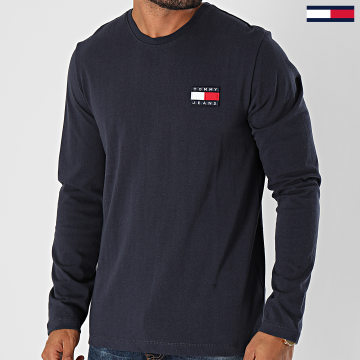 Tommy Jeans - Tee Shirt Manches Longues Tommy Badge 9400 Bleu Marine