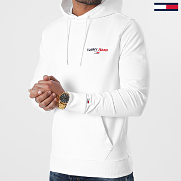 Tommy Jeans - Sweat Capuche Tommy Chest Graphic 8730 Blanc